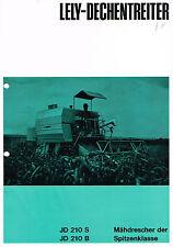 LELY-dechentreiter Moissonneuses-batteuses JD 210 S/B, orig. Prospectus 1968