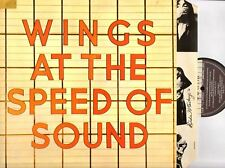 WINGS at the speed of sound (original uk & inner) LP EX/EX PAS 10010 beatles