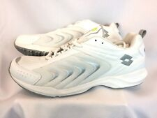 NIB Lotto Challanger White And Silver Italian Design Sneakers Mens Sz 11.5