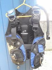 BCD Oceanic Oceanpro FX Blue Size Medium Diving Gear Buoyancy Control Device