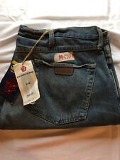 Mens New Wrangler 38X34 77 Slim Fit Boot Cut Low Rise Jeans