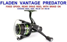 Fladen Vantage Predator 40 Fixed Sppol Reel Pre Loaded With 0.22mm Braid