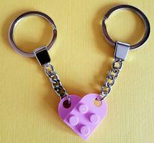 LEGO Rosa Amore Cuore Portachiavi Regalo Di Compleanno VALENTINE qualità Portachiavi Nuovo