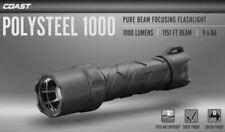 COAST Polysteel 1000 Flashlight, 1000 Lumen, Heavy Duty, Submersible, Drop Proof