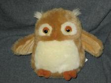 "Applause Plush Owl Brown White 6"" Russ 68568 3+ Yellow Eyes Bird Cuddle"