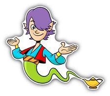 """Genie Magic Lamp Car Bumper Sticker Decal 5"""" x 4"""""""