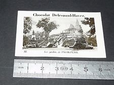 PHOTO CHOCOLAT DELESPAUL-HAVEZ 1950 COLONIE INDOCHINE CAMBODGE PNOM-PENH JARDINS