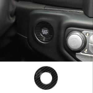 Carbon fiber Start Stop Button Ring Decor Trim For 2020 Jeep Gladiator JT
