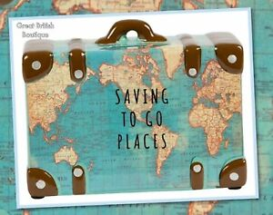 Perfect for The World Traveller! - Vintage Map Money Savings Pot/Piggy Bank