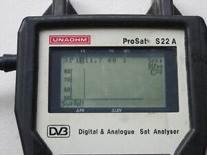 UNAOHM S22 A DIGITAL SATELLITE TV METER  - new batteries!