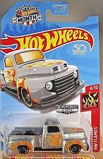 2018 Hot Wheels #004 Zamac Walmart Exclusive '49 FORD F1 TRUCK Zamac wBlk St8 Sp