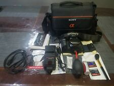 Sony Alpha a100 camera body 10.1 MP DSLR with bag and accessories (no lens)