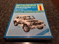 Mitsubishi Shogun, Hardback Haynes Manual