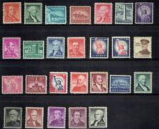 "1954-61 U.S. ""Liberty"" Regular Issue COMPLETE SET Sc#1030-53 M/NH/OG Incl $5.00*"