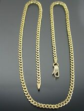 VINTAGE 14ct GOLD CURB LINK NECKLACE CHAIN 17 inch C.1990