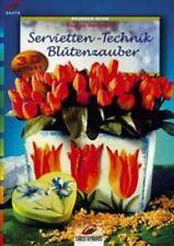 Servietten-Technik * Blütenzauber * Vasen Kerzen Lampen Dosen * Christophorus