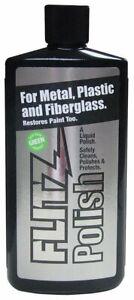 Flitz Liquid Metal Polish for Metal, Plastic & Fiberglass 100 mL Bottle #LQ04535