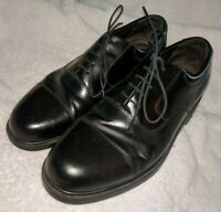 Mens Rockport Black Leather Dress Casual Shoes Size 11.5  M Oxford Lace Up