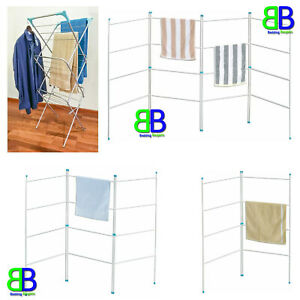 3 TIER CLOTHES AIRER LAUNDRY DRYER WINGED FOLDING 2 FOLD, 3 FOLD, 4 FOLD AIRERS