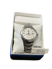 Seiko Coutura Kinetic Men's 100m Sapphire Crystal SS Watch SRN063 NWT MSRP $425