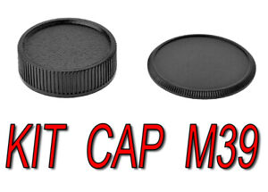 KIT CAP BODY CAMERA REAR LENS M39 39MM 39X1 L39 ADATTO A ZENIT Praktica ZORKI
