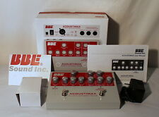 BBE Acoustimax Sonic Maximizer Preamp Pedal 3 Band EQ Road Ready Stage Box NIB