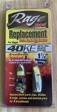 "Rage 40KE 1 1/2"" Replacement Blades Tips O-Rings Screws for Rage Broadheads (j)"