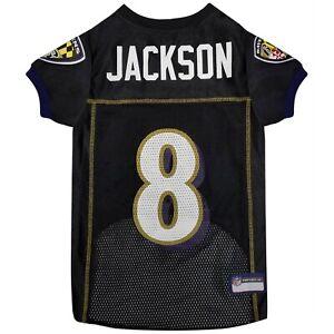 LAMAR JACKSON #8 Baltimore Ravens 2021 NFLPA Dog Jersey Black, Sizes XS-XL