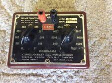 CORNELL DUBILIER CAPACITOR DECADE BOX MODEL CDA 5