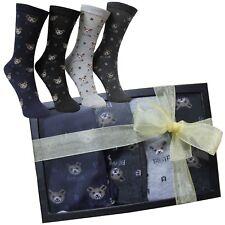 Calcetines Mujer Oso Teddy Caja Regalo Ideas Box Chica Regalitos Cumpleaños Top