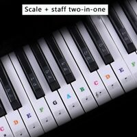 Removable Transparent Piano Keyboard Stickers Piano Sticker 37/49/54/61/88 Keys