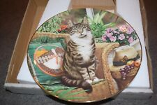 "Royal Doulton ""The Conservatory Cat Plate Fine Bone China In Box"