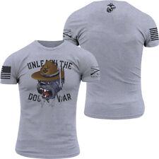 Grunt Style USMC - Dogs Of War T-Shirt - Gray