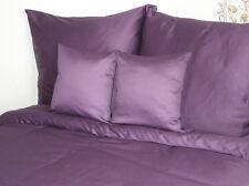 3 pz. cotone makò lenzuola tinta unita viola 155x200 cm lenzuola viola