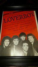 Loverboy Albatross Productions Rare Original Tour Promo Poster Ad Framed!