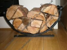 Curved Log Holder/Basket Fire Resistant Black Paint.