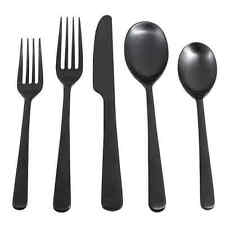 Cambridge Silversmith Julie Hammered Black Flatware, 5 Pc Setting - Display