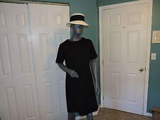 """Womens Vintage 1960's """"Jackie O"""" Black Knee Length Dress Sz 18-20 ? EUC"""