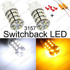 3157 3457 3057 Switchback LED Turn Signal Light Bulbs + Resistors (2 Pieces)