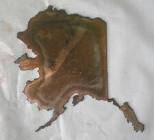 6 Inch Alaska State Shape Rough Rusty Metal Vintage Stencil Ornament Diy Sign