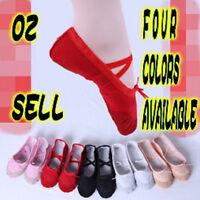 Children Girls Kids baby Ballet Dance Shoes Flat Slippers Split Sole Shoes C1056