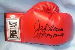Jake LaMotta Signed Everlast Boxing Glove PSA/DNA COA The Raging Bull Autograph
