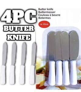4 X Butter Cheese Slicer Knife Spreader Spatula Utensil 10cm Steel Sandwich Kit