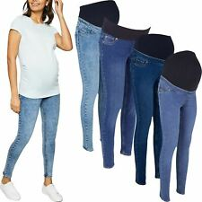 Ex-Store Ladies Womens Over Bump Maternity Skinny Stretch Jeans Jeggings 8-24
