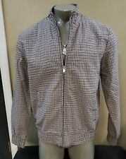 Topman Mens Bomber Checkered Stretch Jacket Size L
