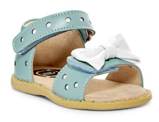 NEW Livie & Luca MINNIE Light Blue w/ Whiter Bow Sandals Shoes 9