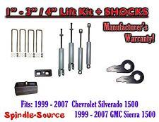 "1999 - 2006 CHEVY GMC 1500 Silverado Sierra 1 - 3"" Keys / 4"" Kit + SHOCKS"