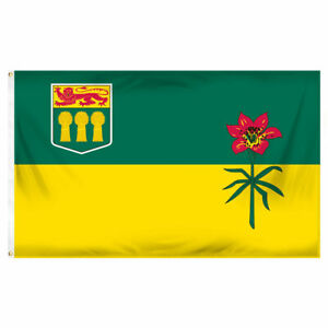 SASKATCHEWAN PROVINCIAL 3ft x 5ft BANNER/FLAG HIGH QUALITY 100% POLYESTER