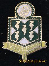 5TH MARINES HAT LAPEL PIN UP US MARINE REGIMENT USMC CAMP PENDLETON VETERAN WOW