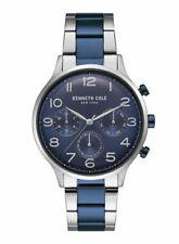 Kenneth Cole KC15185003 Herren Armbanduhr Uhr Watch 42 mm Silber Blau Datum Tag